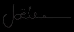 Signature manuscrite de Joëlle
